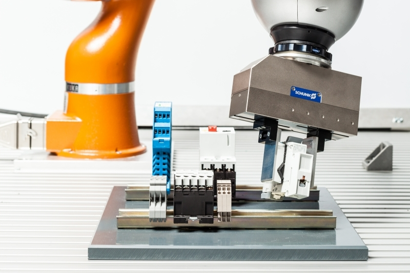 industrial robot gripping components