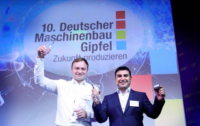 drag&bot gewinnt Startup-Award auf dem Maschinenbau-Gipfel 2018, Innovationen im Maschinenbau, Einfache Roboterprogrammierung via drag&bot